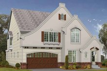 European Exterior - Front Elevation Plan #132-332