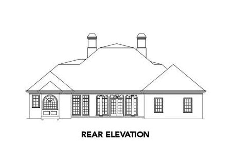 Colonial Exterior - Rear Elevation Plan #429-5 - Houseplans.com