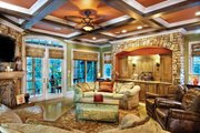 Mediterranean Style House Plan - 3 Beds 2.5 Baths 2909 Sq/Ft Plan #930-70 Interior - Family Room
