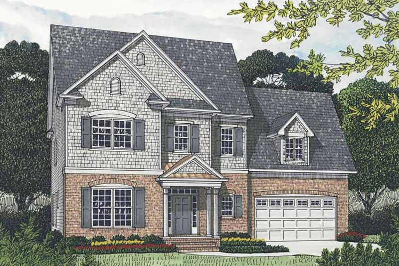 Traditional Exterior - Front Elevation Plan #453-539 - Houseplans.com