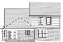 Colonial Exterior - Rear Elevation Plan #46-843