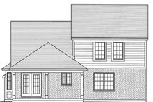Dream House Plan - Colonial Exterior - Rear Elevation Plan #46-843