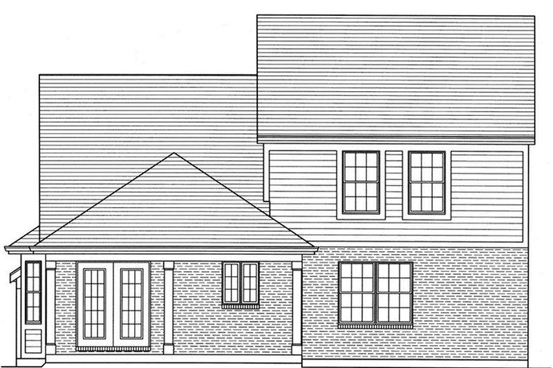 Colonial Exterior - Rear Elevation Plan #46-843 - Houseplans.com