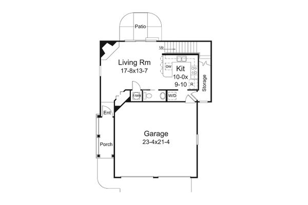 Craftsman Floor Plan - Main Floor Plan #57-697