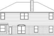 Traditional Style House Plan - 6 Beds 3 Baths 3002 Sq/Ft Plan #84-187 Exterior - Rear Elevation