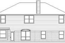 Home Plan - Traditional Exterior - Rear Elevation Plan #84-187