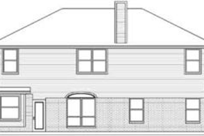 Traditional Exterior - Rear Elevation Plan #84-187 - Houseplans.com