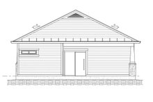 Architectural House Design - Ranch Exterior - Rear Elevation Plan #1077-8