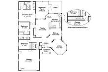 Mediterranean Floor Plan - Main Floor Plan Plan #124-432
