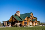 Log Style House Plan - 5 Beds 5 Baths 3578 Sq/Ft Plan #451-28 Exterior - Other Elevation