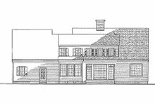 House Plan Design - Farmhouse Exterior - Rear Elevation Plan #137-122