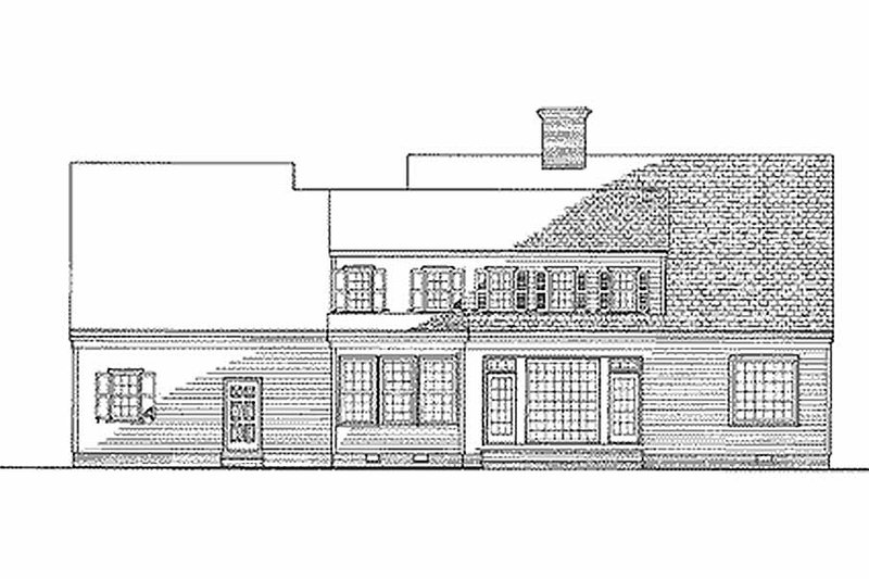 Farmhouse Exterior - Rear Elevation Plan #137-122 - Houseplans.com