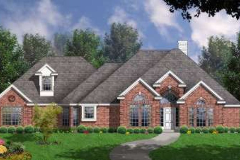 Traditional Exterior - Front Elevation Plan #40-323 - Houseplans.com