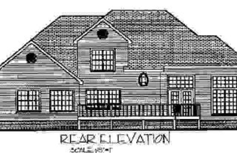 Country Exterior - Rear Elevation Plan #56-191 - Houseplans.com