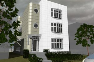 Contemporary Exterior - Front Elevation Plan #535-20