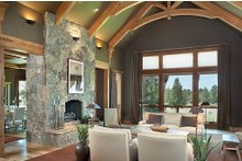 Home Plan - Great Room - 5300 square foot Craftsman home