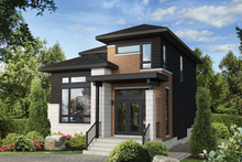 Architectural House Design - Contemporary Exterior - Front Elevation Plan #25-4897