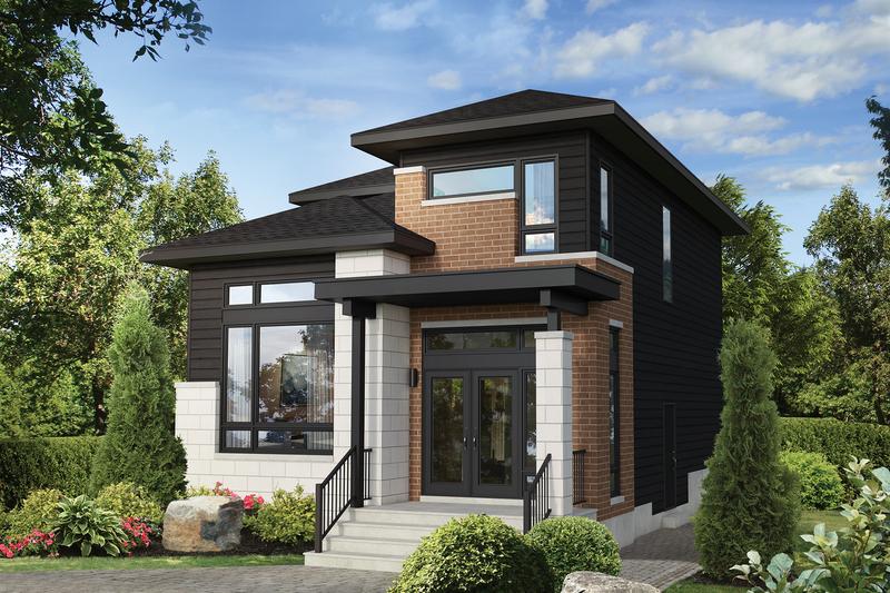 House Plan Design - Contemporary Exterior - Front Elevation Plan #25-4897