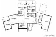 Craftsman Style House Plan - 4 Beds 3.5 Baths 2988 Sq/Ft Plan #451-10 Floor Plan - Lower Floor Plan