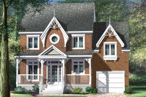 Country Exterior - Front Elevation Plan #25-4144