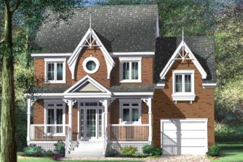Country Style House Plan - 3 Beds 1.5 Baths 1566 Sq/Ft Plan #25-4144 Exterior - Front Elevation