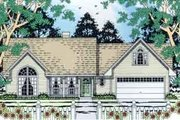 Country Style House Plan - 3 Beds 2 Baths 1360 Sq/Ft Plan #42-287 Exterior - Front Elevation