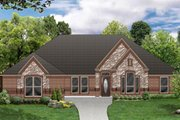 European Style House Plan - 4 Beds 3 Baths 2690 Sq/Ft Plan #84-486 Exterior - Front Elevation