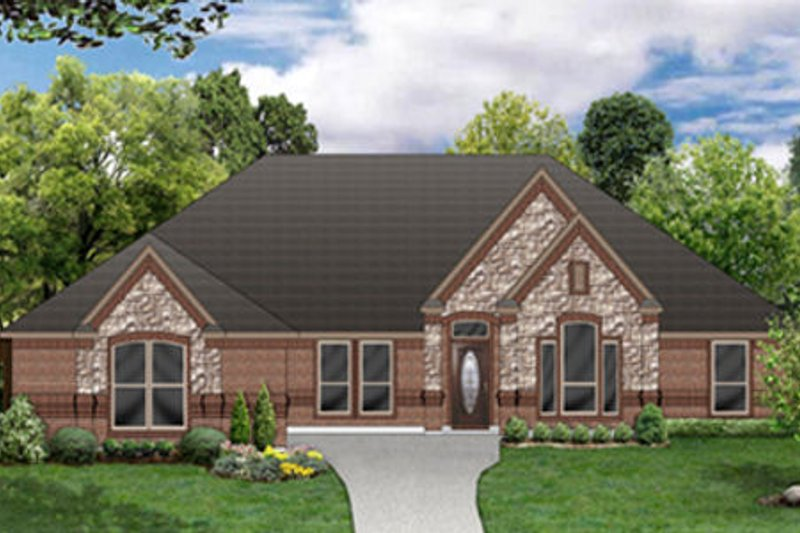 Dream House Plan - European Exterior - Front Elevation Plan #84-486