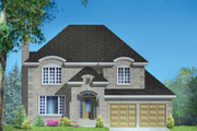 European Style House Plan - 3 Beds 2 Baths 2369 Sq/Ft Plan #25-4869 Exterior - Front Elevation