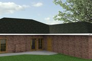 Country Style House Plan - 4 Beds 3 Baths 1856 Sq/Ft Plan #44-116 Exterior - Rear Elevation