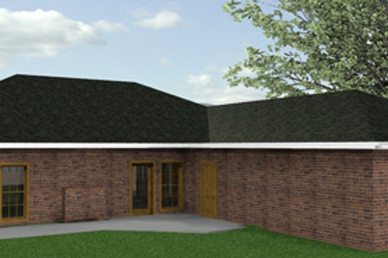 Country Exterior - Rear Elevation Plan #44-116 - Houseplans.com