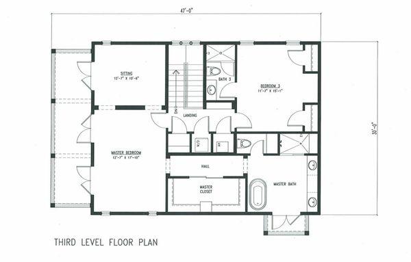 Beach Floor Plan - Upper Floor Plan #443-7
