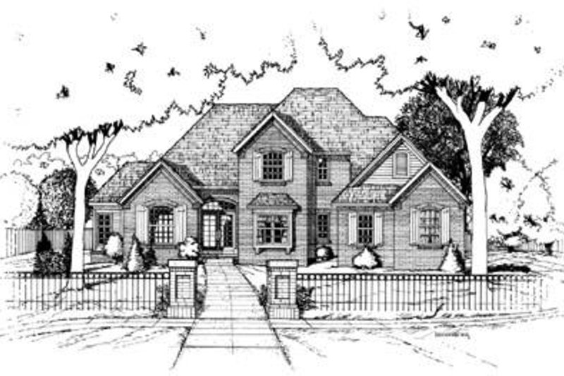 Traditional Exterior - Front Elevation Plan #20-927