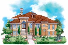 Mediterranean Exterior - Front Elevation Plan #930-131