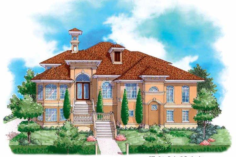 Architectural House Design - Mediterranean Exterior - Front Elevation Plan #930-131