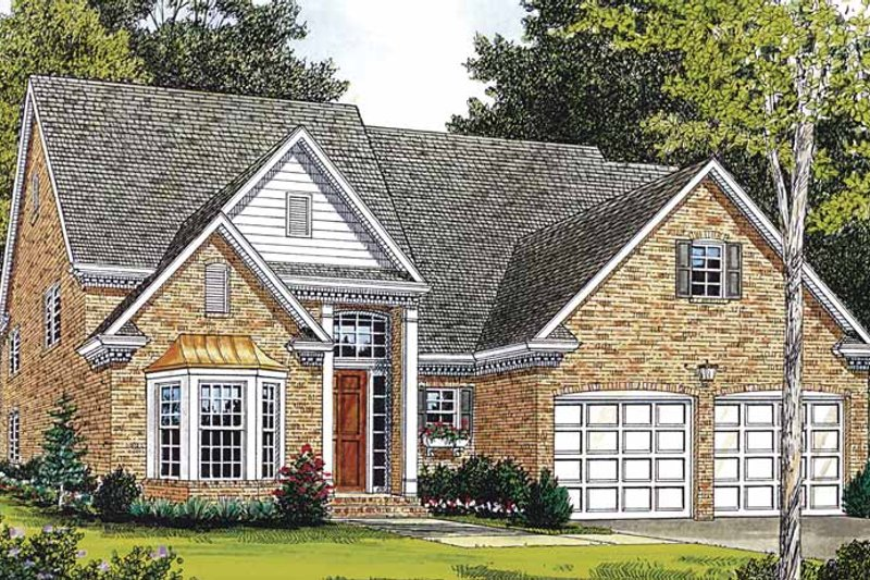 Traditional Exterior - Front Elevation Plan #453-135
