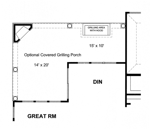 Craftsman Floor Plan - Other Floor Plan Plan #316-274