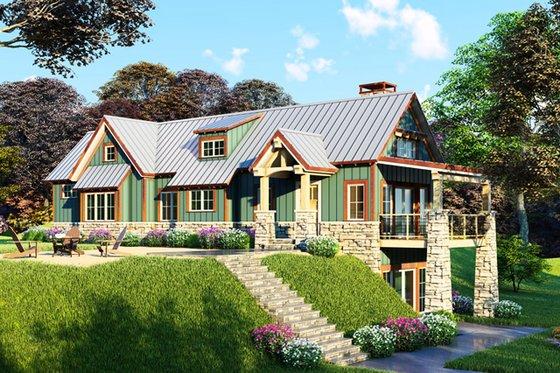 House Plan Design - Craftsman Exterior - Front Elevation Plan #923-23