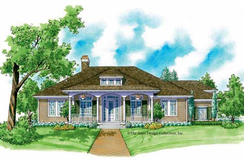 Country Exterior - Front Elevation Plan #930-216