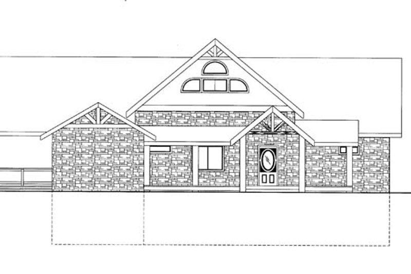 Ranch Exterior - Front Elevation Plan #117-856 - Houseplans.com