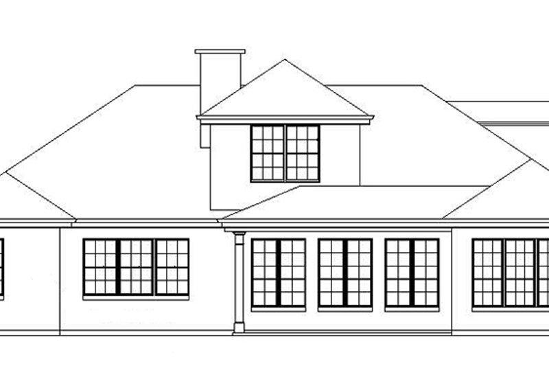 Traditional Exterior - Rear Elevation Plan #325-287 - Houseplans.com