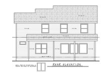 Farmhouse Exterior - Rear Elevation Plan #20-2362