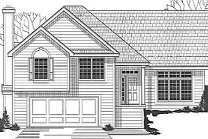 Traditional Exterior - Front Elevation Plan #67-650