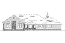 Home Plan - European Exterior - Rear Elevation Plan #5-248