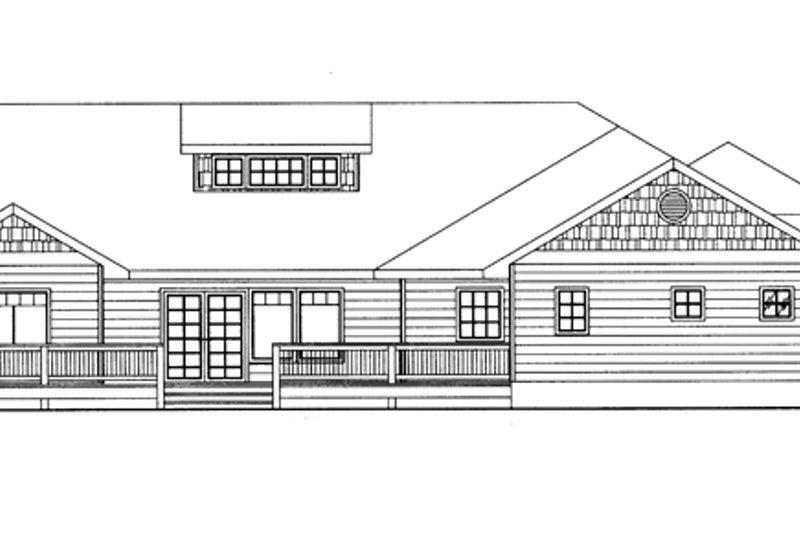 Ranch Exterior - Rear Elevation Plan #117-851 - Houseplans.com