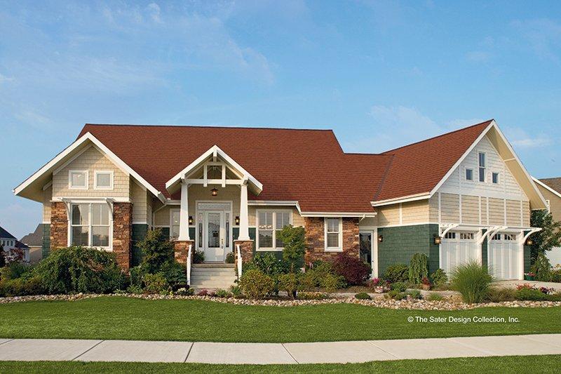 Craftsman Exterior - Front Elevation Plan #930-356 - Houseplans.com