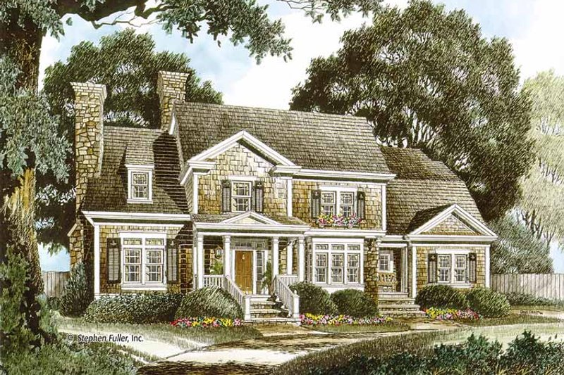 Colonial Exterior - Front Elevation Plan #429-343