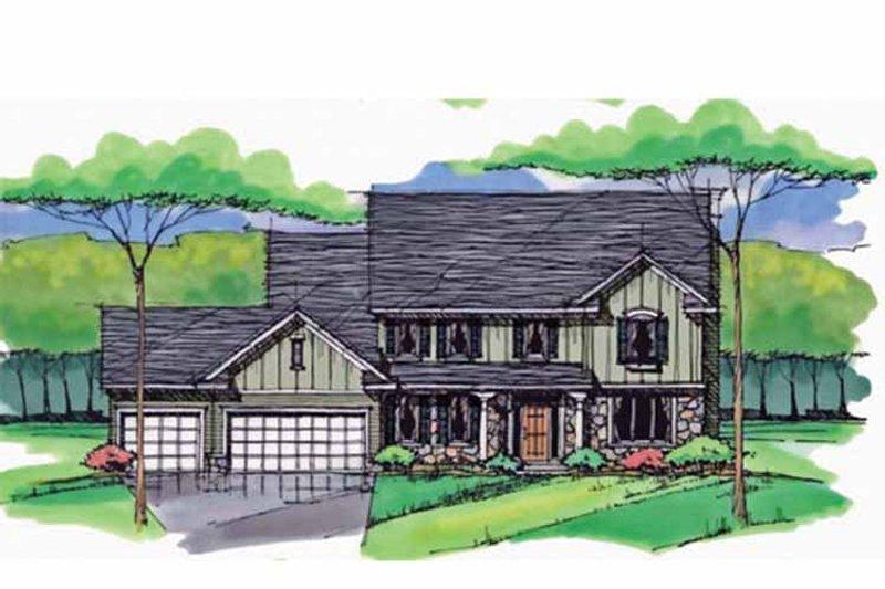 Colonial Exterior - Front Elevation Plan #51-1011 - Houseplans.com