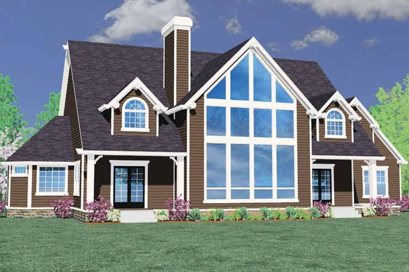 Craftsman Exterior - Front Elevation Plan #509-393