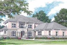 Architectural House Design - Mediterranean Exterior - Front Elevation Plan #453-353